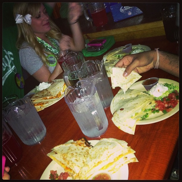 I think we over-ordered on the quesadillas…