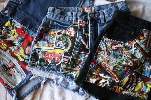 lady-redrum:  sangresirena:  Marvel and Star Wars high waisted shorts are now available for $15 on my storenvy! http://mermaidhotel.storenvy.com/  Also gimme dem.