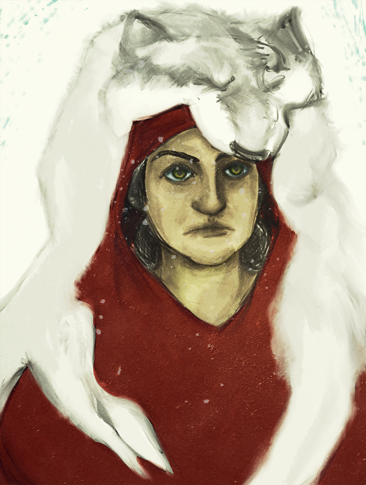 Red Riding Hood and the Wolf. 2.5-3 hours in Photoshop CS6 using a Cintiq 21ux. Texture used.