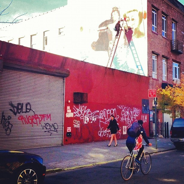 Gaia: In Progress #streetart #bushwickcollective #gaia #gaiastreetart #gaiaart #bushwick #brooklyn #nyc #inprogress #streetphotography