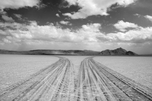 'drawings' on dry lake bed / salt flats in Nevada Jim Denevan