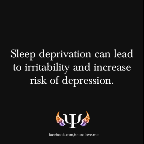 psych-facts:  Sleep deprivation can lead to irritability and increase risk of depression.