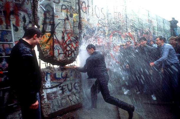 The Berlin Wall coming down, November 11, 1989