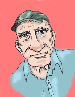 A doodle of my Grandad. I wanted to draw him as a cartoon because i've always thought he had the perfect grumpy expressions and the character to match. I miss him every day xo
