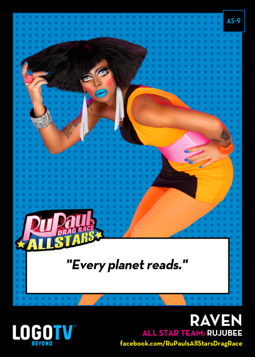 RuPaul's Drag Race TRADING CARD THURSDAY AS-9: Raven!