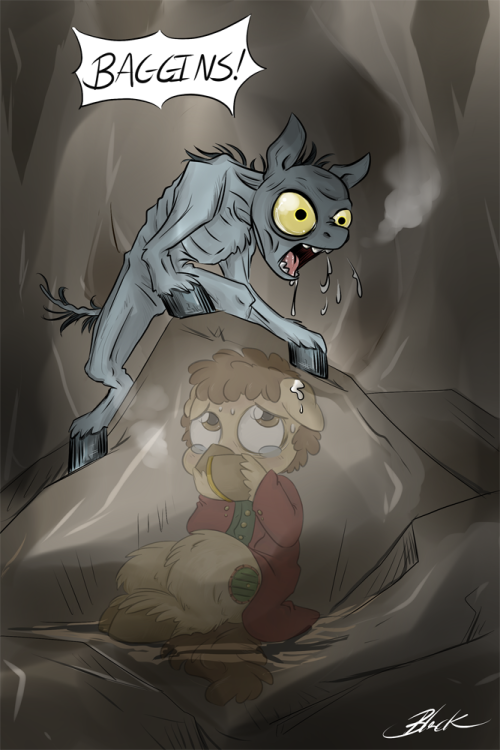 Bilbo Baggins pony encounters the creature, Gollum.