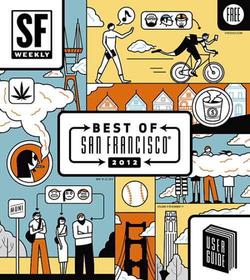 SF Weekly, May 16, 2012Art director: Andrew J. NilsenIllustration: Harry Campbell
