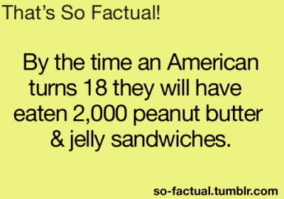 I must not be an American then. Unless I eat 2,000 pb&j sandwiches until November.