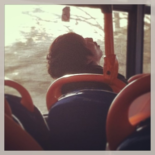 Sleepy man on le bus #sleep #nap #bus #sweetdreams