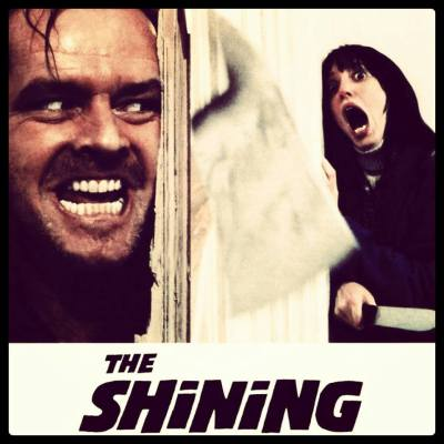 Here's Johnny 🔪 jaja today I was inspired by the movie The Shinning so I'm create a tee design about the movie