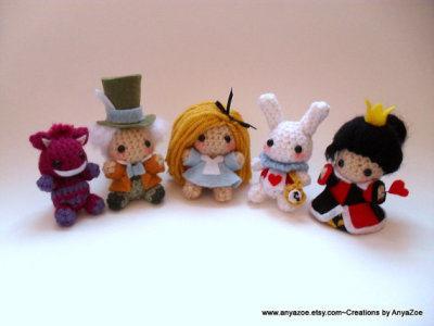 """Alice in Wonderland"" Doll Set by AnyaZoe"