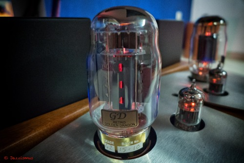 """Golden Dragon Retro""… Stunning tubes with surprising clarity, rhythm and spatial perspective…Highly recommended on both Push-Pull & Single Ended amps (here on a Unison Research Preludio)…"