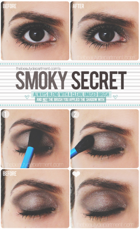 DIY - Smoky eye makeup tutorial.