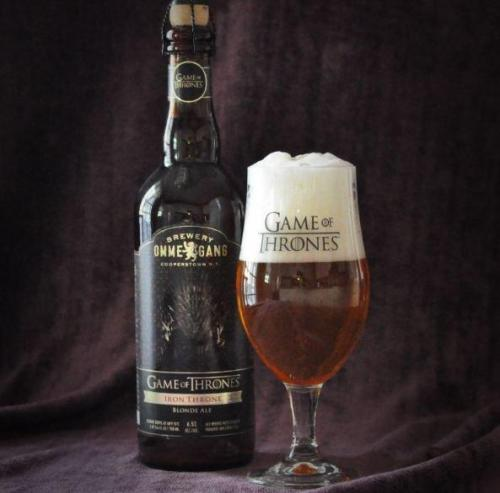 parislemon:  cosmopolitanism:  The first Game of Thrones beer is a blonde ale in a nod to House Lannister.  This 6.5 percent alcohol-by-volume Belgian blonde ale is a brewed with grains of paradise and lemon peel.  It pours a hazy amber with a fluffy white head, and its nose is a grassy bouquet of fruity Belgian esters and zesty lemon.    Perfect.  I want