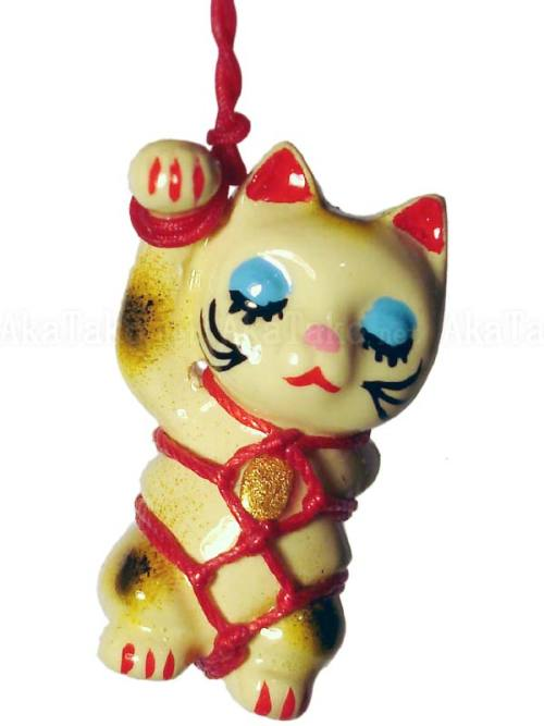 Lucky Cat Kinbaku Charm by Kitanya Design Factory