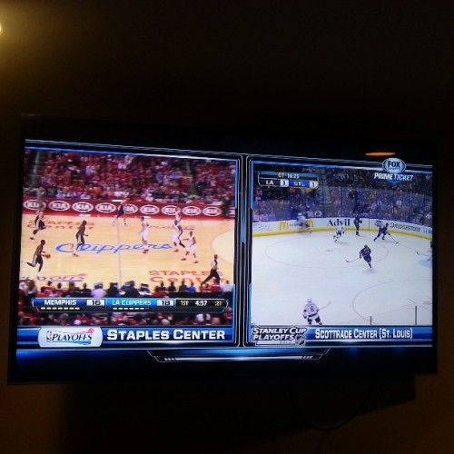 Playoffs overload. #kings #clippers #losangeles #_LA