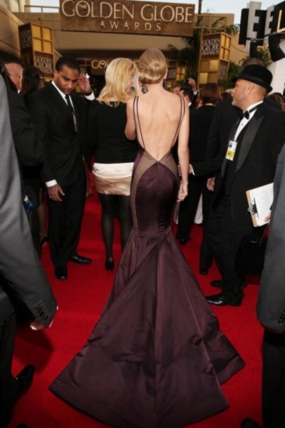 from the back… Taylor Swift at the 2013 Golden Globe Awards