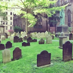 Sunny graveyard (at Trinity Church)