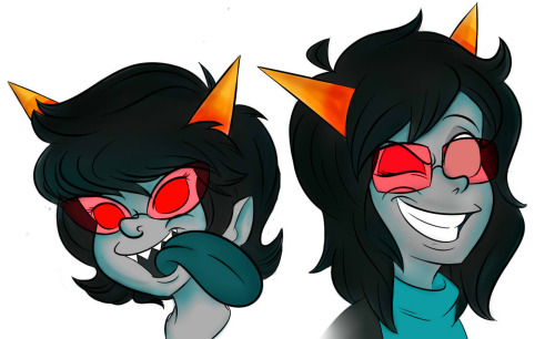 stungun44:  Terezi and Latula. Finally colored
