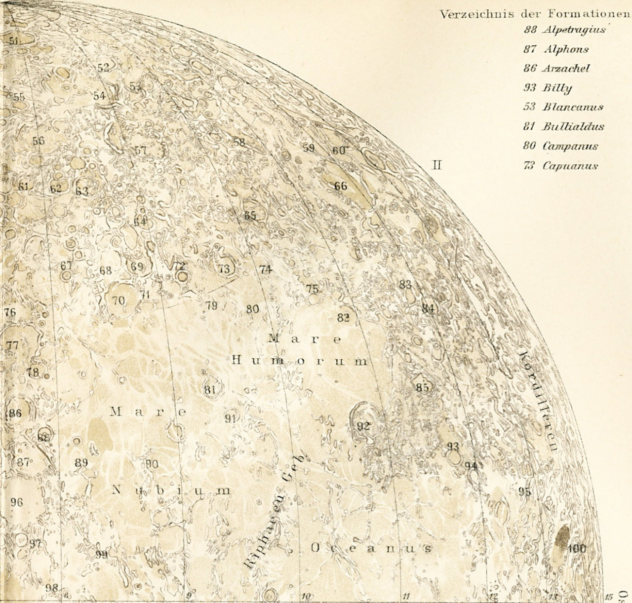inagumbubble:  19th century map of the moon