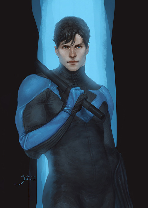 matthulksmash:  birdstump:  Nightwing, by Guilherme Prieto   He looks so real and human… Love it!