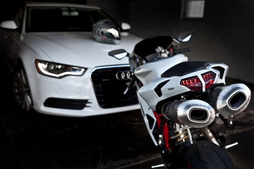 paid2shoot:  My current rides.   New Ducati 1199 coming this summer Instagram @Paid2shoot       Follow me