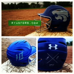 Custom #Eagan baseball helmet #baseball #ryanfors #iwantastencil #wildcats #10