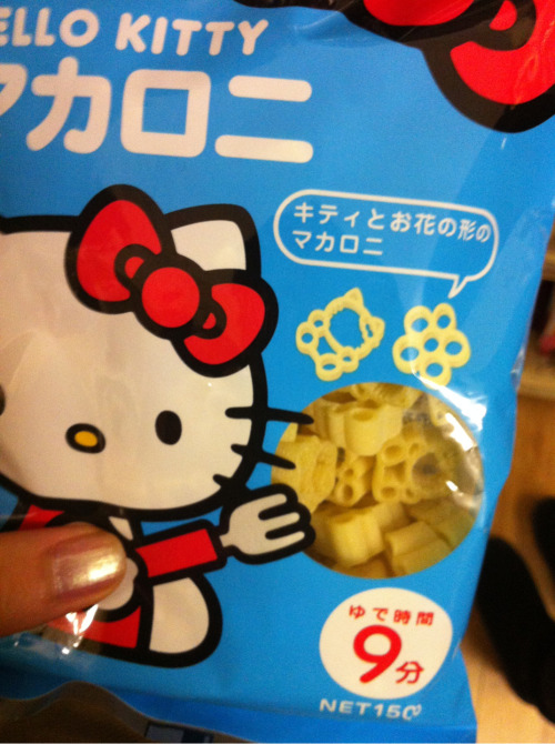 hirobii:  Saw hello kitty shaped spaghetti omg