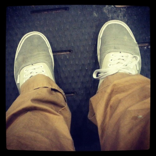 Where's my board? #skate #vans #khaki #starbucks #bored #justkiddingidontskate #anymore #bike #schwinn