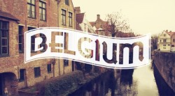 Europe in Typography - Belgium My sweet little home country in typography