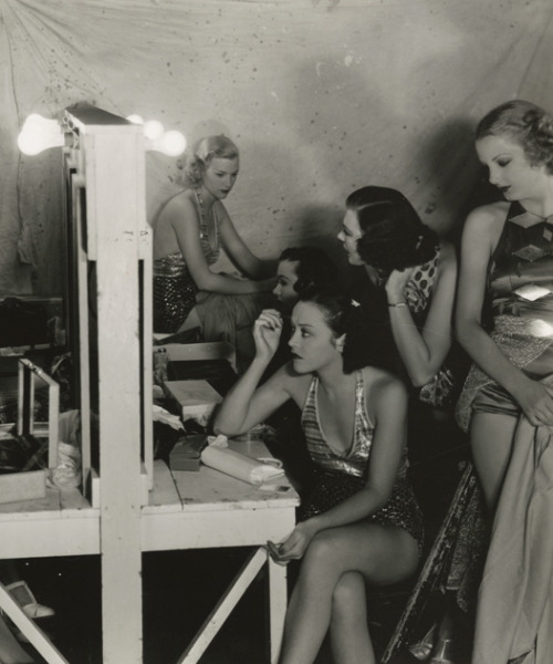 maudelynn:   Dancing girls backstage on the set of 20th Century Fox's 'Star For a Night' c.1933
