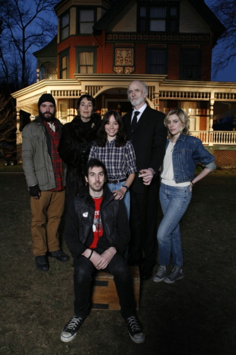 Ti West and the cast of House of the Devil
