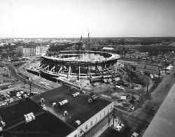 rva-madness:  Richmond Coliseum construction Richmond, VA 1970