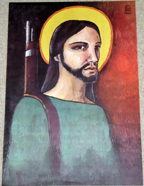 "willrowhood:  ""Christ Guerrilla"" - Alfredo Rostgaard (Cuban) 1969"