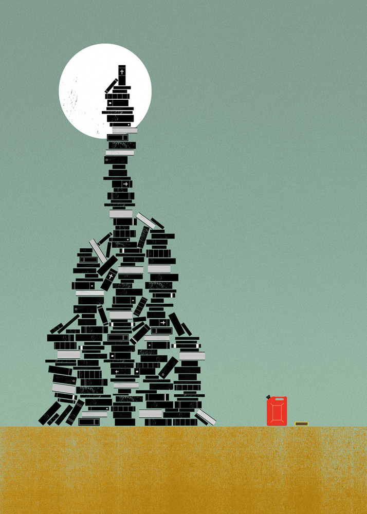 """Biblioclasm"" and 25 other rare words beautifully illustrated by The Project Twins graphic art studio. http://shop.theprojecttwins.com/category/a-z-of-unusual-words"