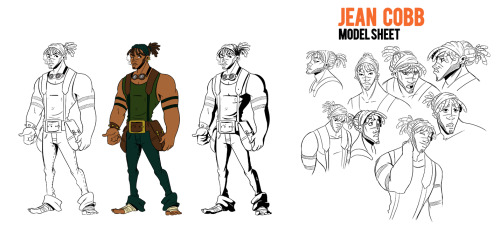 Next up here's Jean's model sheet. I'm really happy with how much Jean came together when I sat down to do this; he's always been a bit fuzzy in my head and tended to change every time I drew him. I feel like I finally got him right here.