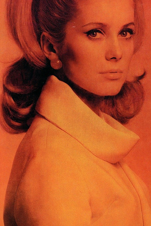 zeshoow:  Catherine Deneuve photographed by Helmut Newton, Vogue France, April, 1962.