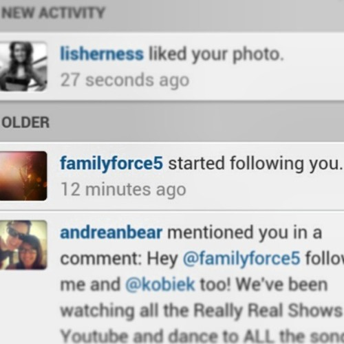 FAMILY FORCE 5 IS FOLLOWING ME!!! I'm crying so hard. I just went to heaven!! Yesyesyesyes @familyforce5