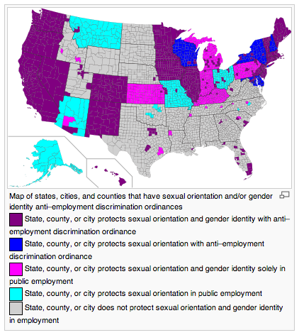 Mapping LGBT rights in the American workplace.