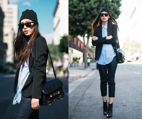 lookbookdotnu:  Channel blue (by Jenny Ong)
