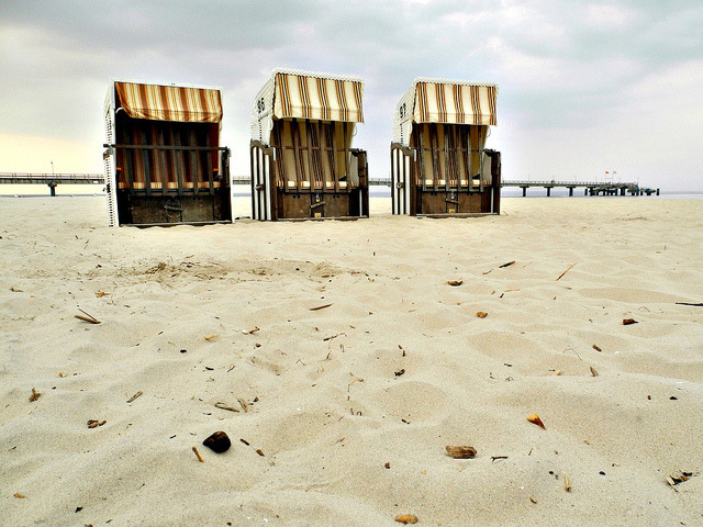 | ♕ |  Three Beach Chairs - Baltic Sea  | by © Mathias Liebing