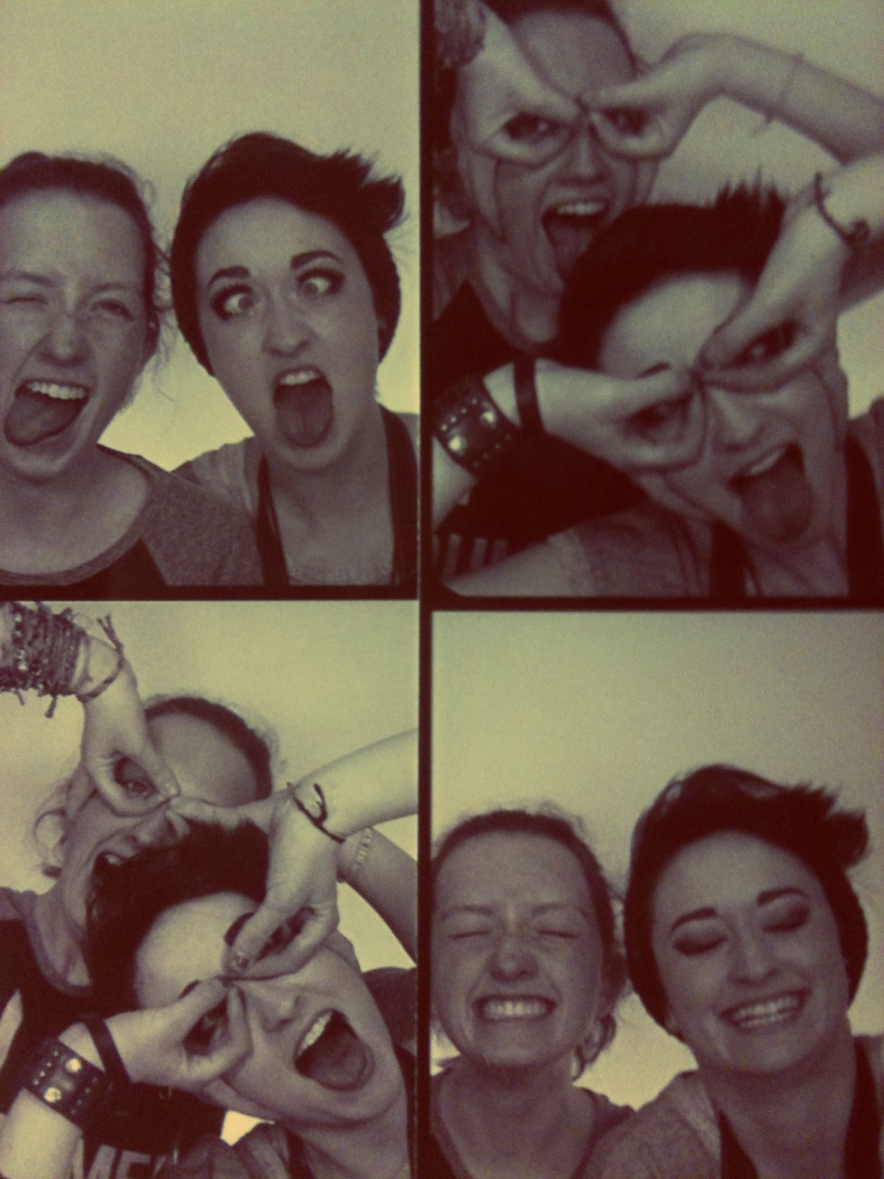 Lena and I in the bodega photo booth