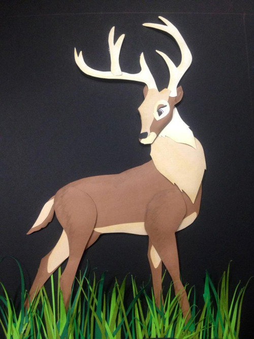 iraisdoodles:  Bambi's father. This is my pride. <3 Paper piecing.  Hooray for self reblogging. :) Please follow my other blog, where I'll post all my drawing/doodle/artsy stuff :)