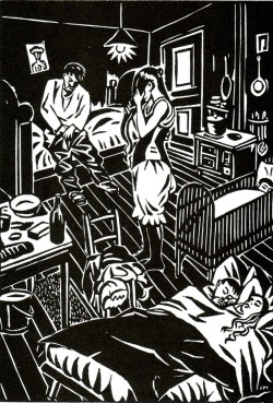 wood cut : Frans Masereel