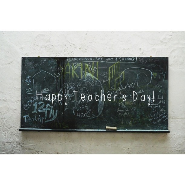 Happy Teacher's Day!! (at ChinaHouse / Kopi C. Espresso)