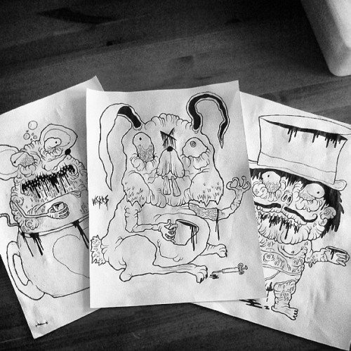 Going to get these tea party characters coloured today… #madhattersteaparty #madhatter #marchhare #dormouse #aliceinwonderland