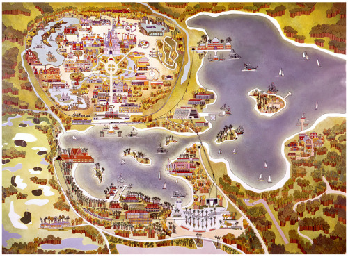 Vintage Map of Walt Disney World via Disney Parks Blog One Day - Ill Make A Pretty Awesome Disney Map