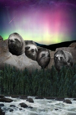 Mount Slothmore remembers those sloths that have changed history…slowly
