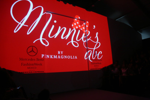 Short video at the Pink Magnolia show at Mercedes Benz Fashion Week Mexico.