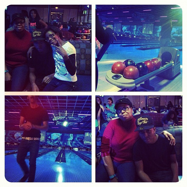 Bowling with the family